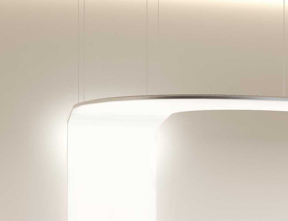 ArchilumO CompoSe 600 Rezeption gebogenes LED Panel