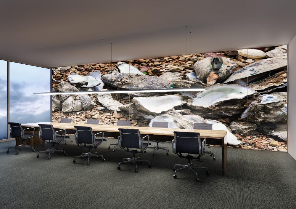 ArchilumO LightWall aus Acyrlglas hochauflösend bedruckt in Konferenzraum