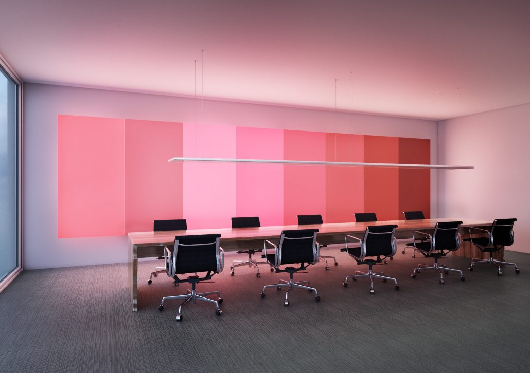 ArchilumO Lightwall LED Lichtwand Büro Konferenzraum RGB