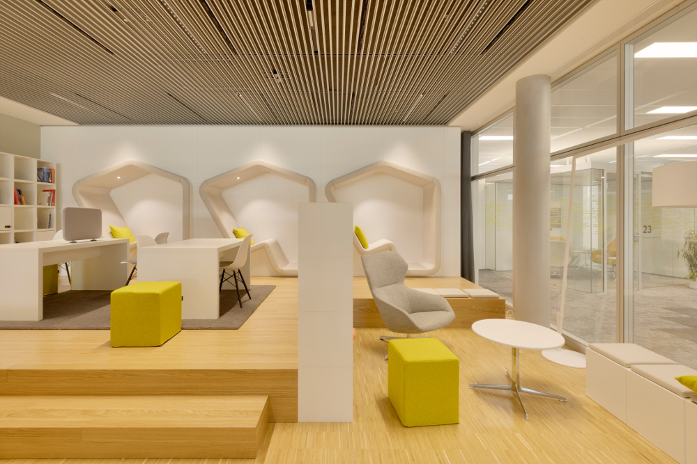 Beleuchtung Lounge Bosch Verwaltungsgebäude